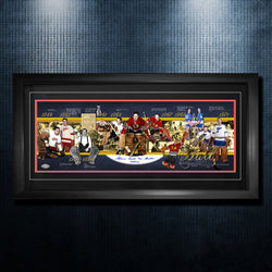 Gordie Howe Detroit Red Wings Autographed Career Timeline 19x40 Frame