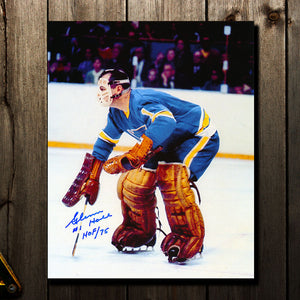Glenn Hall St. Louis Blues HOF Autographed 8x10