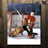 Glenn Hall Pre-Order Chicago Blackhawks Autographed 8x10 (3)