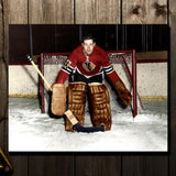 Glenn Hall Pre-Order Chicago Blackhawks Autographed 16x20 (1)