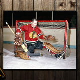 Glenn Hall Pre-Order Chicago Blackhawks Autographed 16x20 (4)