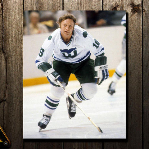 Bobby Hull Pre-Order Hartford Whalers Autographed 8x10 (1)