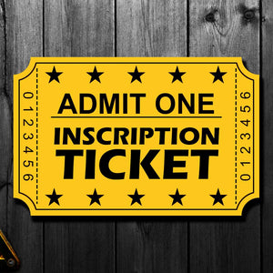 Doug Favell Pre-Order Inscription Ticket