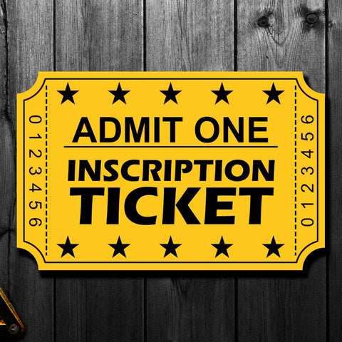 Brett Hull Pre-Order Inscription Ticket