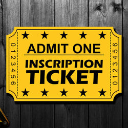 Gerry Desjardins Pre-Order Inscription Ticket