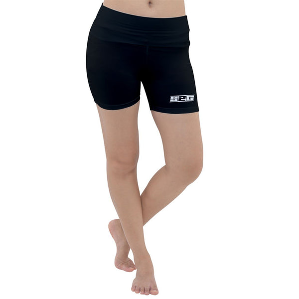 S2G Lightweight Velour Yoga Shorts Black