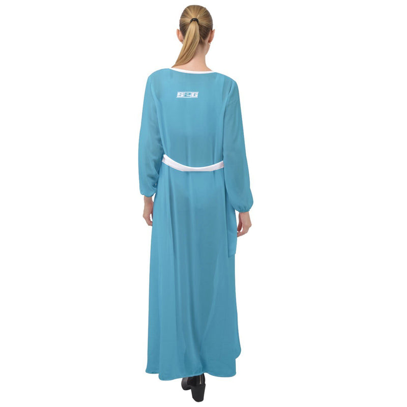 S2G The Teals Maxi Chiffon Beach Wrap
