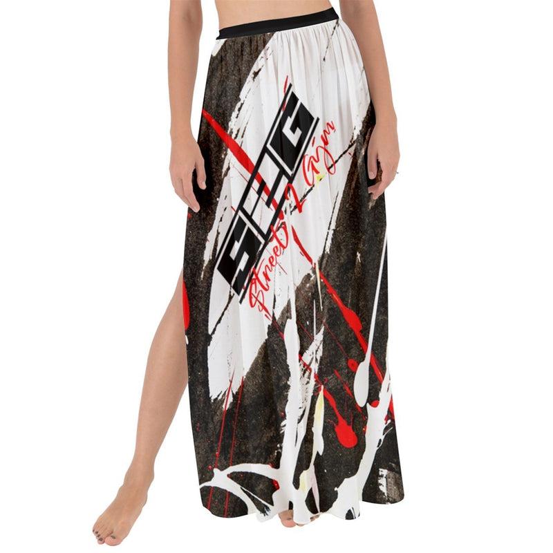 S2G RBW Paint Stroke Maxi Chiffon Tie-Up Sarong