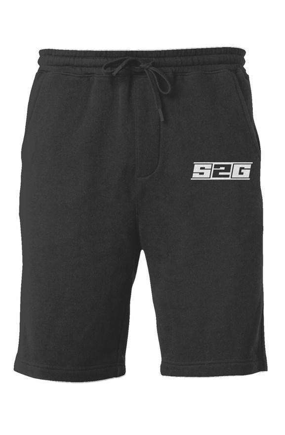 S2G MENS FLEECE EMBROIDERED SHORTS