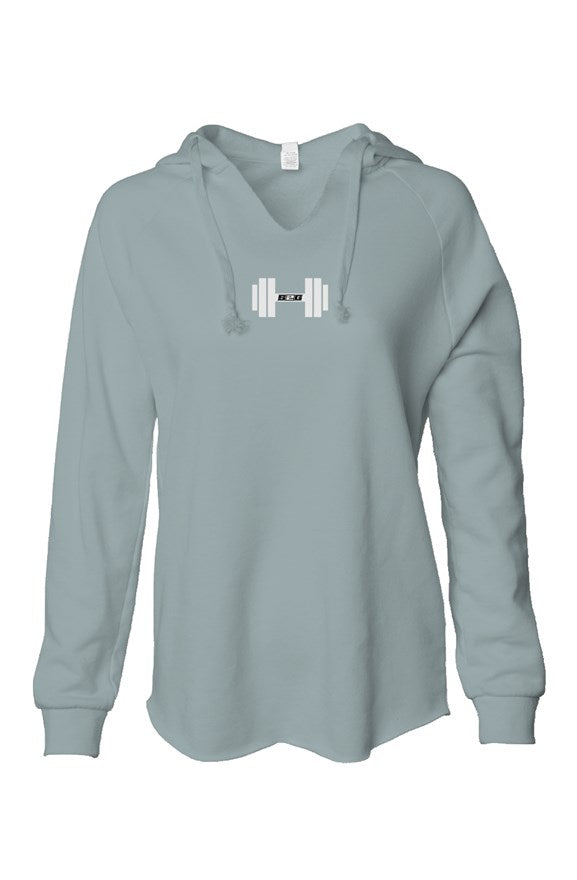 S2G Rep Inspired Dumbbell Womens Lightweight  Wash Hooded Sweatshirt