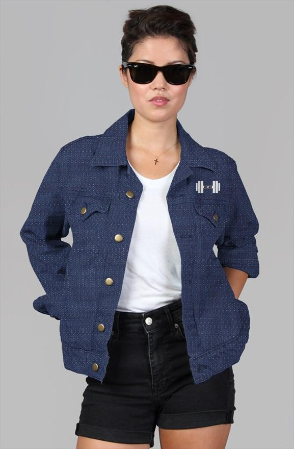 S2G Rep Inspired Dummbell womens denim jacket