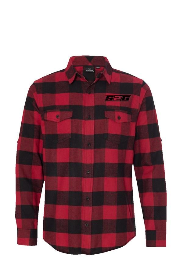 S2G Men's Long Sleeve Flannel Red And Black