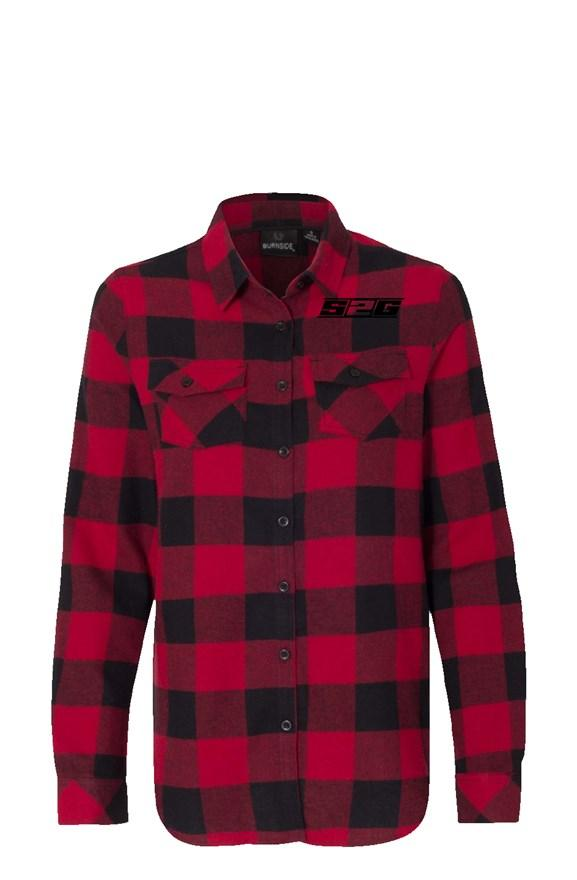S2G Womens Long Sleeve Red Flannel