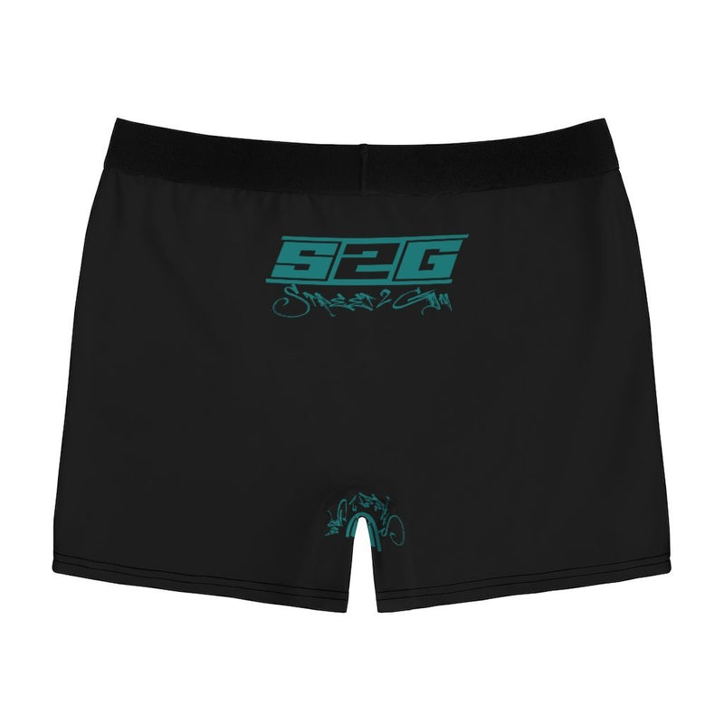 S2G Black with Teal Men's Boxer Briefs