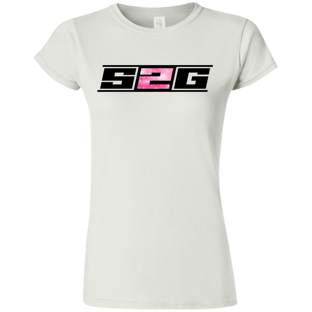S2G Pink Galaxy Softstyle Ladies' T-Shirt