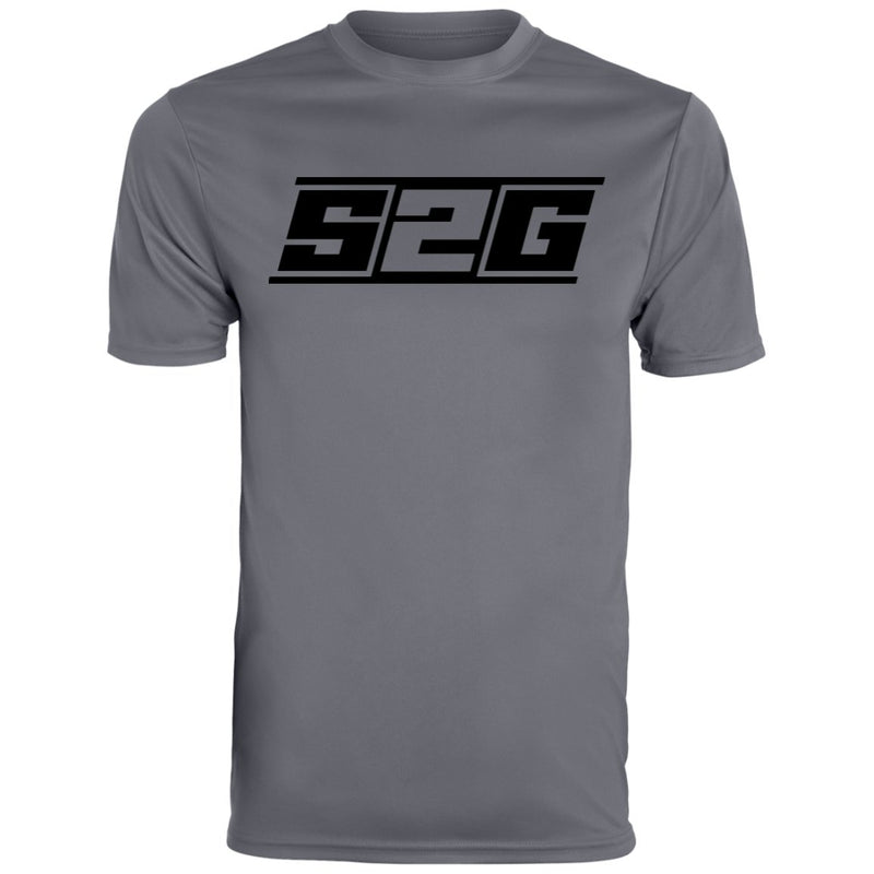 S2G Men's Wicking T-Shirt black logo