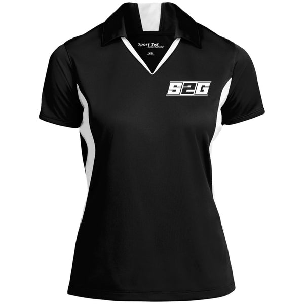 S2G BACK Ladies' Colorblock Performance Polo