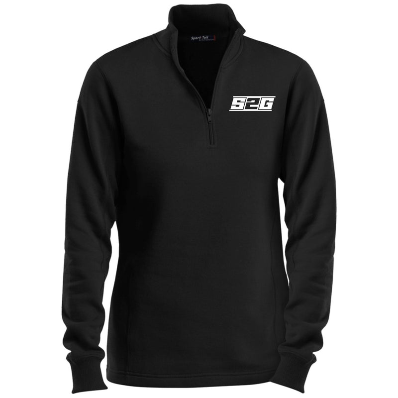 S2G Curvy Collection Ladies' 1/4 Zip Sweatshirt