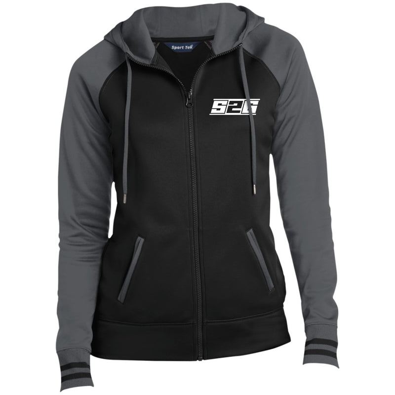 S2G Curvy Collection Ladies' Moisture Wick Full-Zip Hooded Jacket