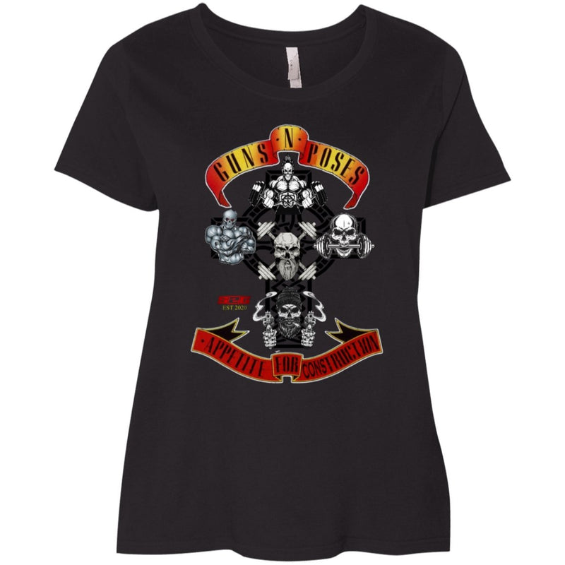 S2G Guns & Poses Ladies' Curvy T-Shirt