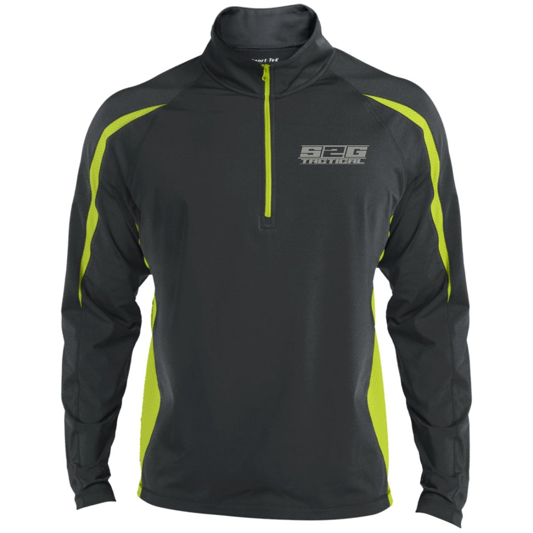 S2G Men's Tactical Sport Wicking Colorblock 1/2 Zip