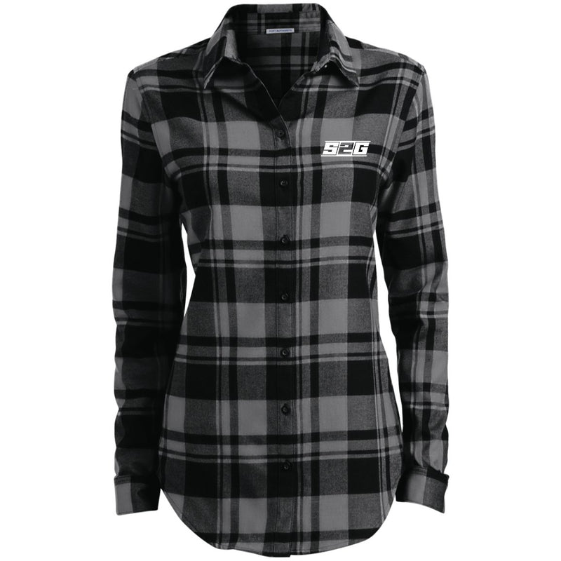 S2G Curvy Collection Ladies' Plaid Flannel Tunic