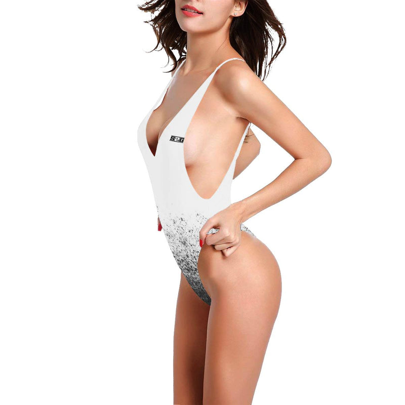 S2G Ladies Fade one piece Women's Halter Straps Backless Swimsuit