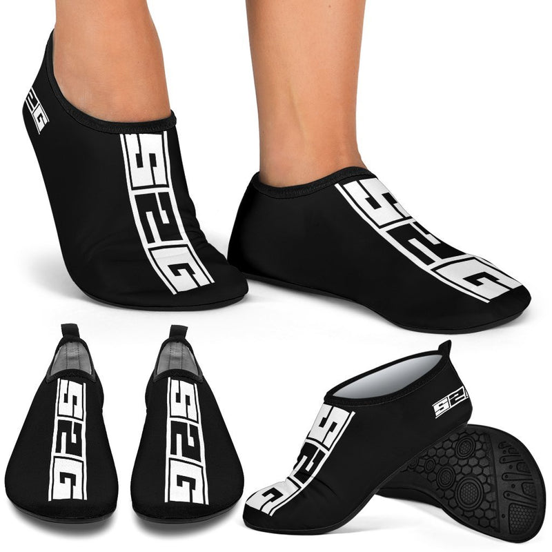 S2G Aqua Socks Black with White logo