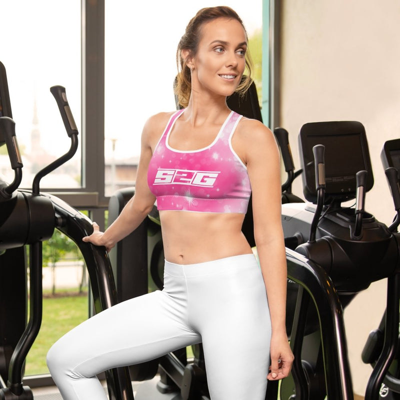 S2G Pink Galaxy Padded Sports Bra