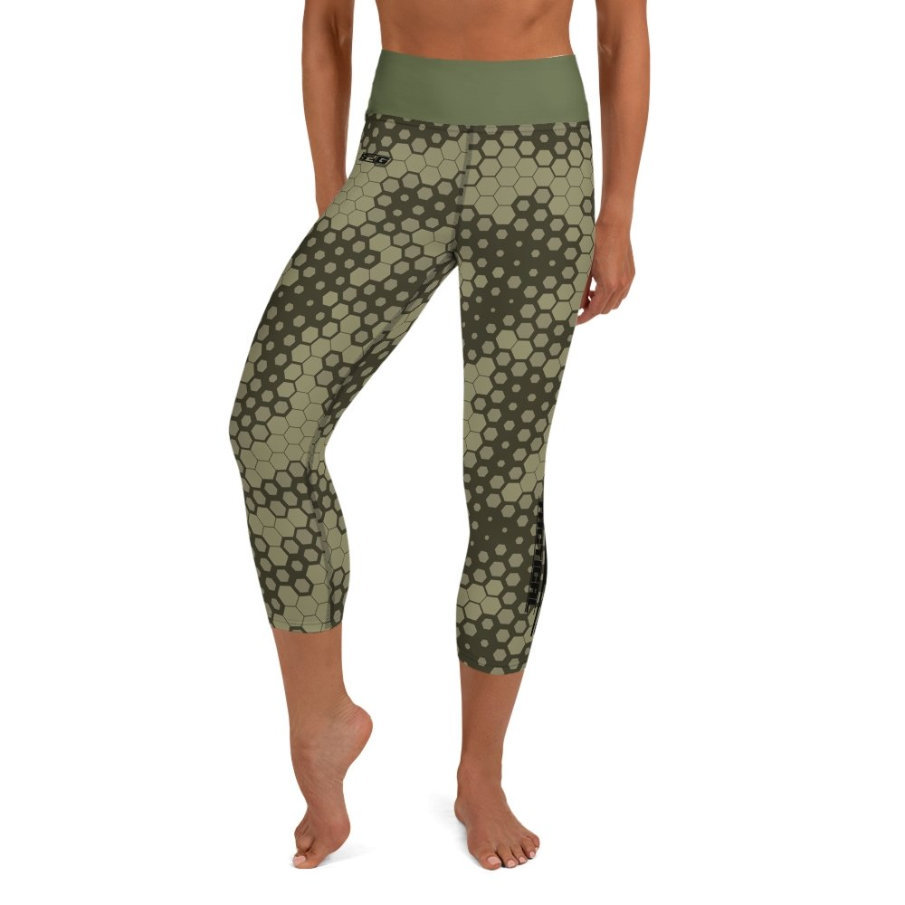 S2G Snake Camo Tactical Yoga Capri Leggings