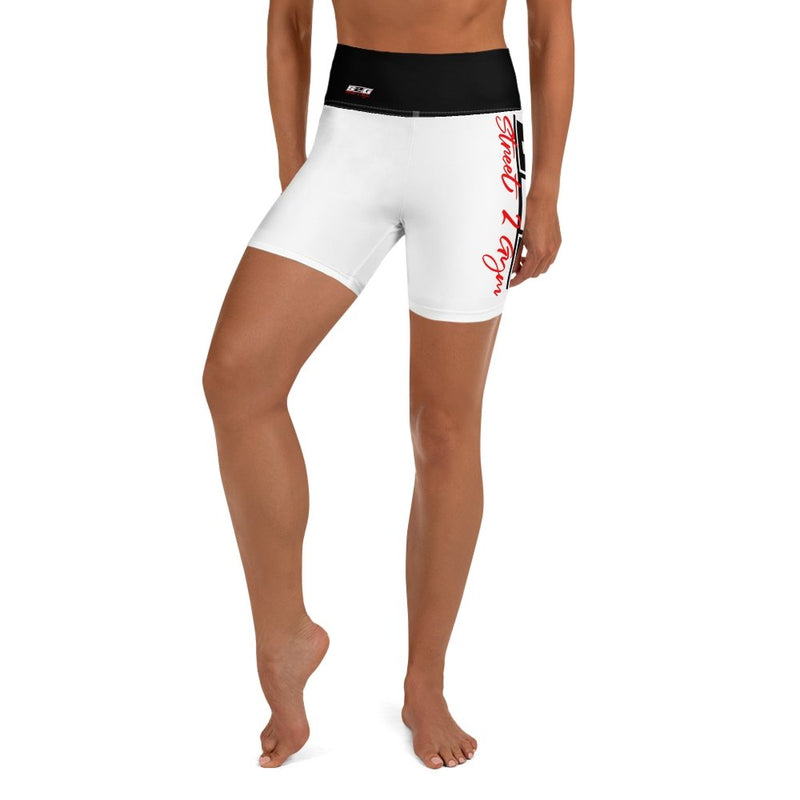 S2G Signature Series BOLD white Yoga Shorts