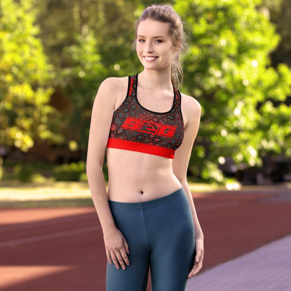 S2G Red Snake Camo Tactical Padded Sports Bra