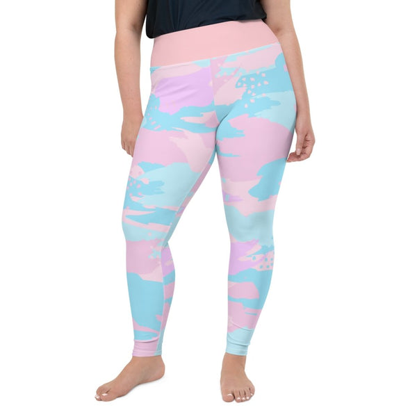 S2G Curvy Collection Yoga Pants Pastel Camo