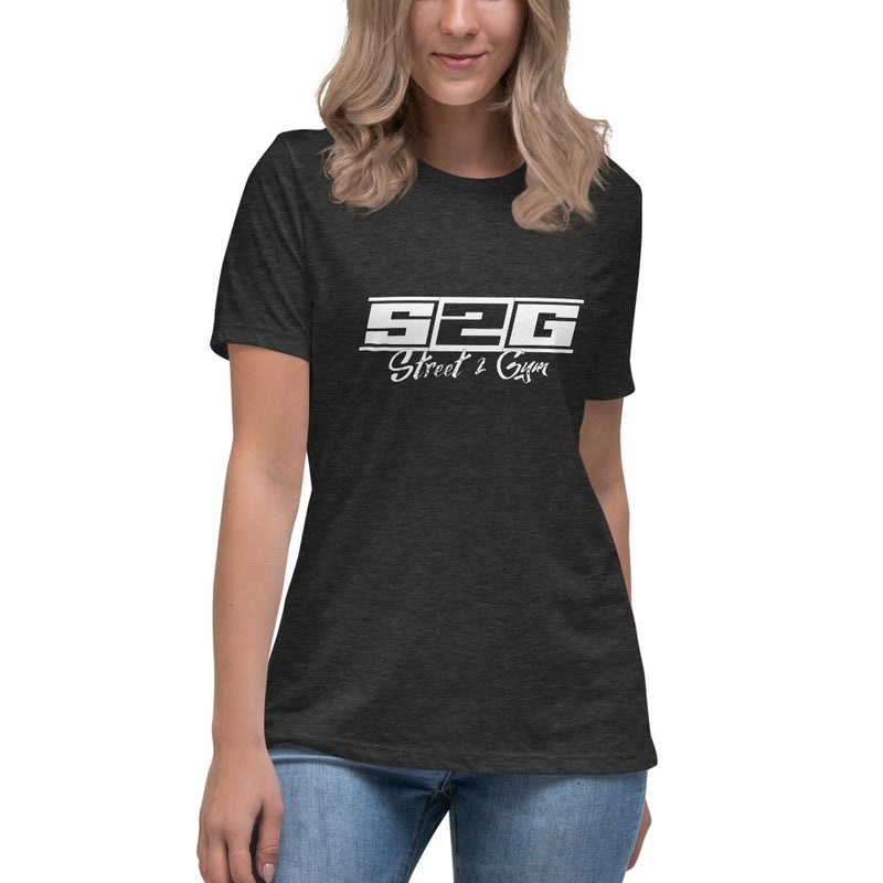 S2G Women's Relaxed T-Shirt with White Print