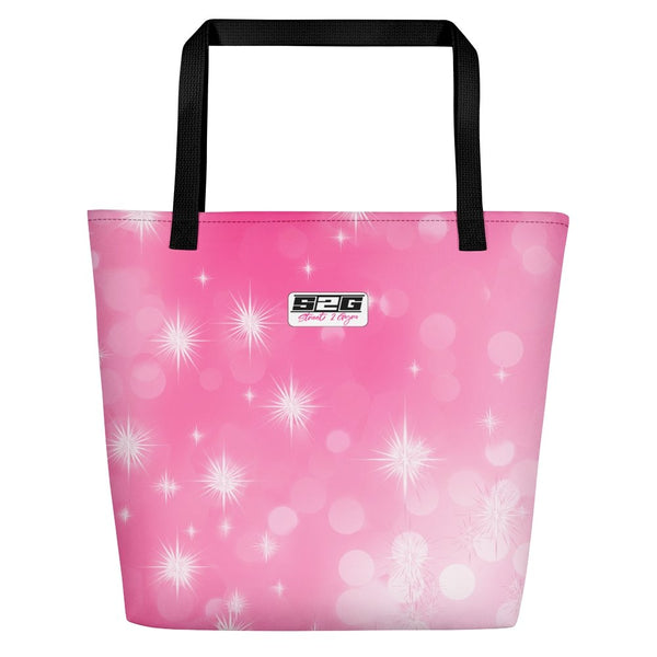 S2G Pink Galaxy Beach Bag