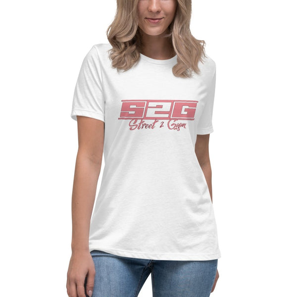 S2G Women's Relaxed T-Shirt with Coral Print