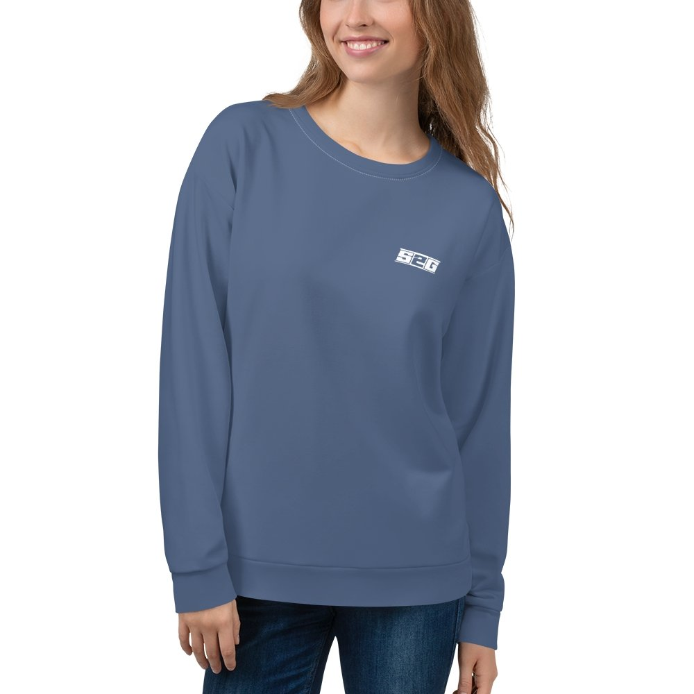 S2G Performance Stripe Slate Blue Unisex Sweatshirt