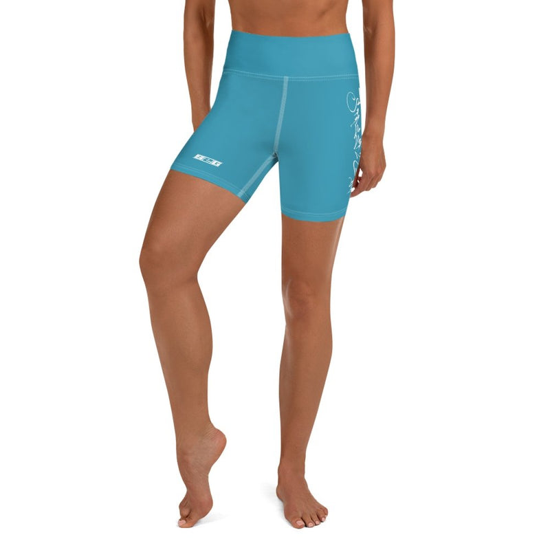 S2G Dark Teal High Waisted Yoga Shorts