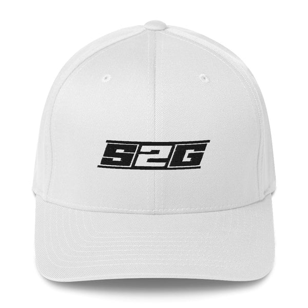 S2G BLACK logo FLEXFIT Structured Twill Cap
