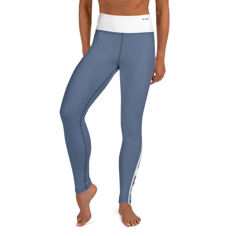 S2G Performance Stripe Slate Blue Clean Yoga Leggings
