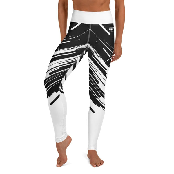 S2G Black and White Abstract High Waist Leggings