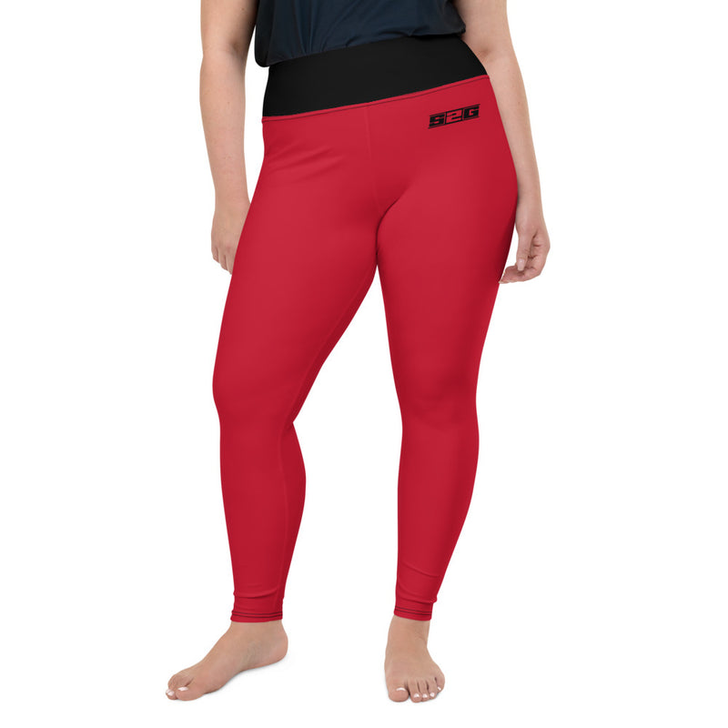 S2G Curvy Collection Yoga Pants Red