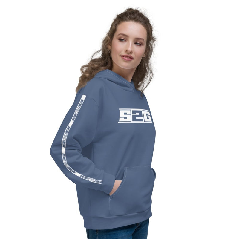 S2G Performance Stripe Slate Blue Unisex Hoodie