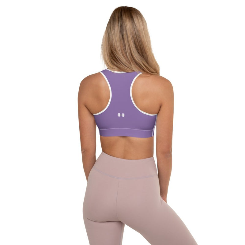 S2G Dumbbell Padded Sports Bra Violet