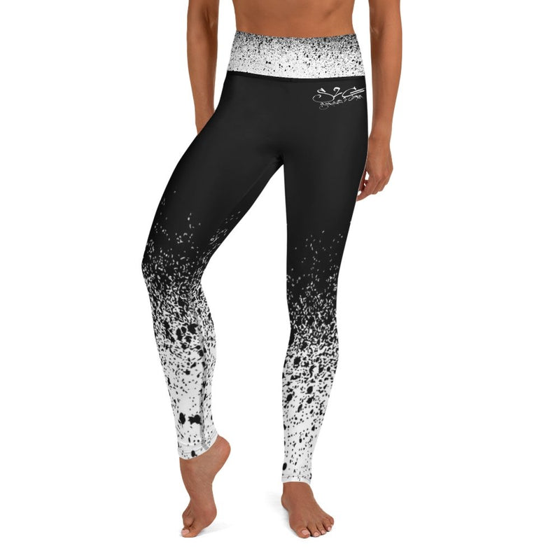 S2G Black and White Splash High Waist Leggings