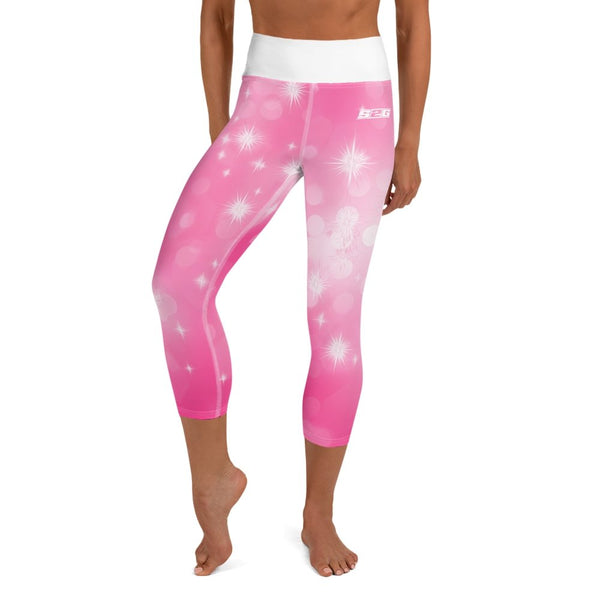 S2G Pink Galaxy Yoga Capri Leggings