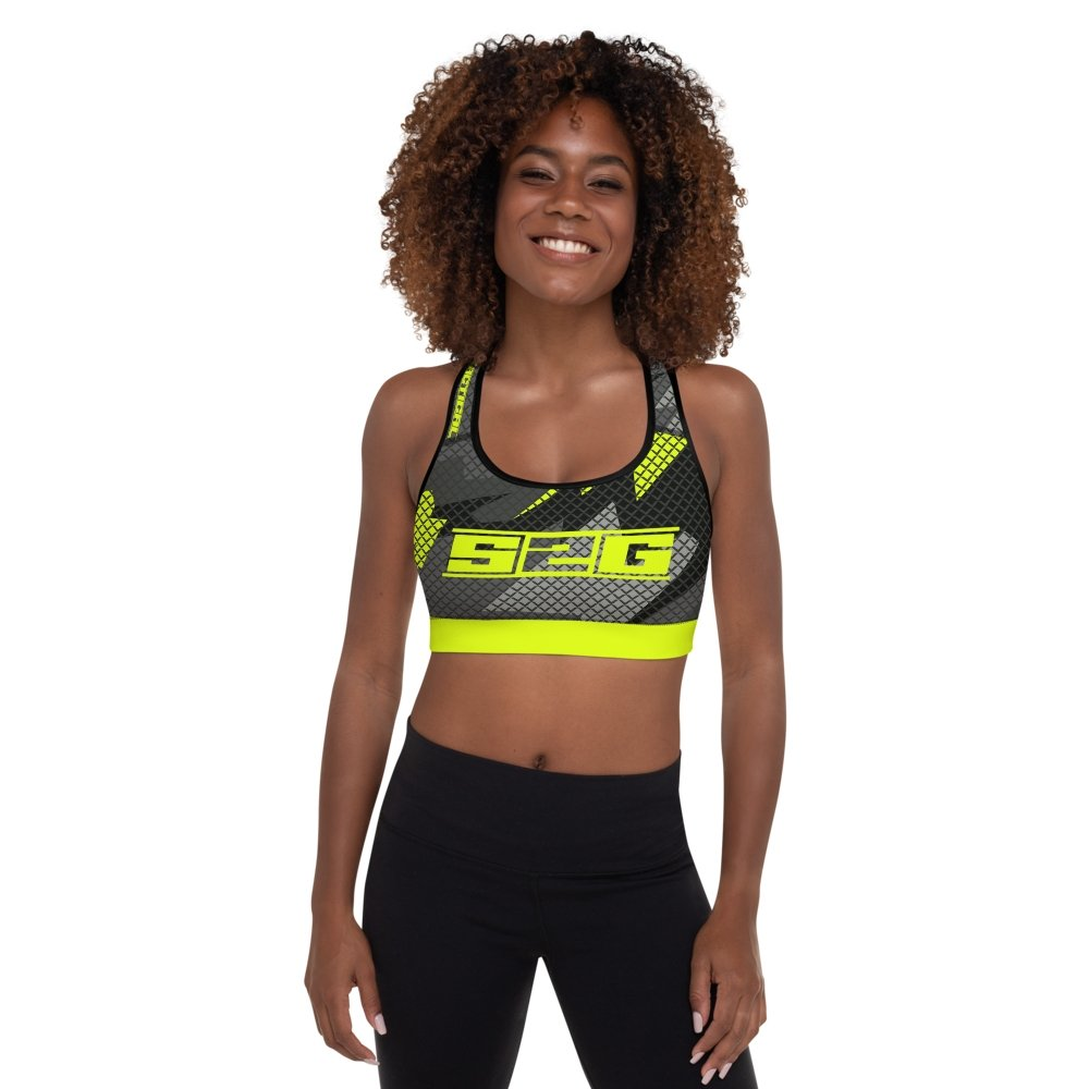 S2G Day Glow Tactical Padded Sports Bra