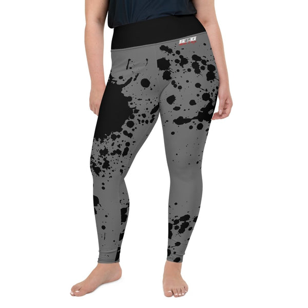 S2G Curvy Collection Yoga Pants Black Splash