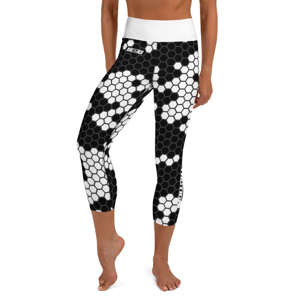 S2G White Snake Camo Tactical Yoga Capri Leggings