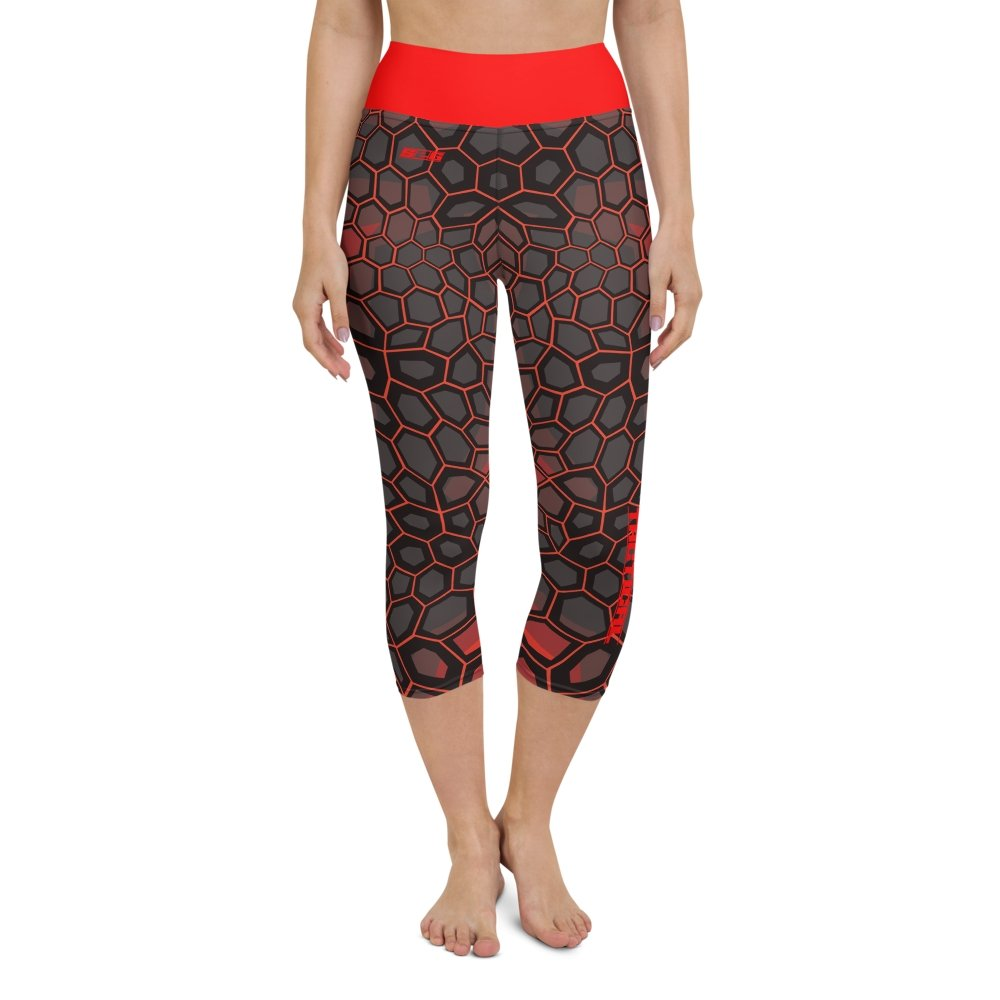 S2G Red Snake Camo Tactical Yoga Capri Leggings